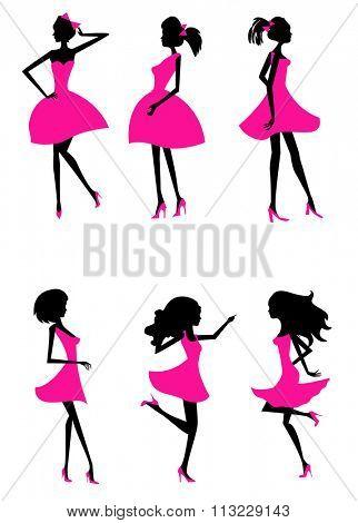 fashion silhouettes girls