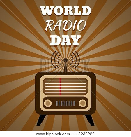 Vector Illustration Of A Radio For World Radio Day Eps 10