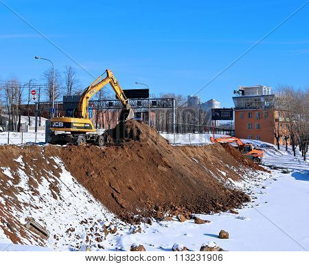 Bulldozers Make The Mound, Doing Ground Works