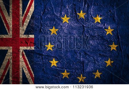 Politic Relationship Between Europe Union And Great Britain. Brexit