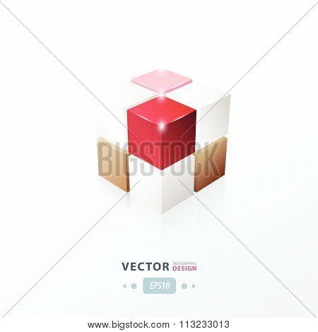 3D Cube Love Valentine Style