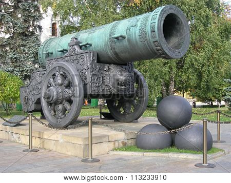The Tsar Cannon in  Moscow Kremlin