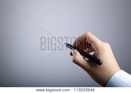 Writing Hand With Gradually Varied Background