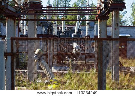 The Destruction At The Transformer Substation