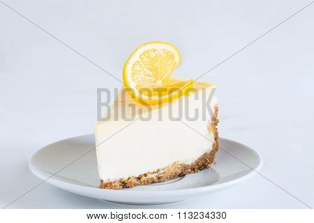 Lemon cheesecake, isolated
