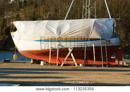 Boat In Winter Storage