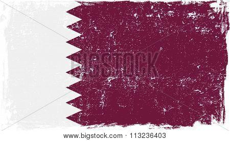 Qatar Vector Flag On White