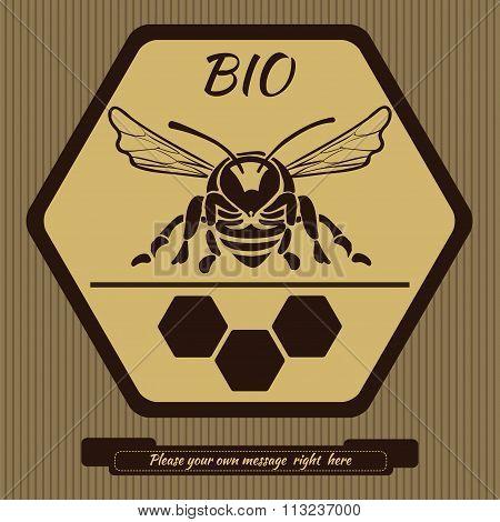 Logo for advertising honey 1