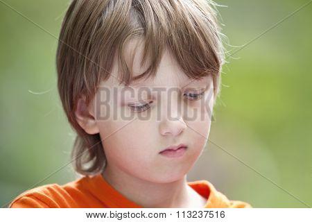 Portrait Of A Boy Thinking
