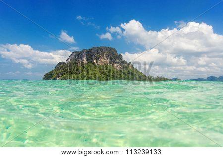 Beautiful landscape of Andaman sea, islands and beaches, Krabi, Thailand