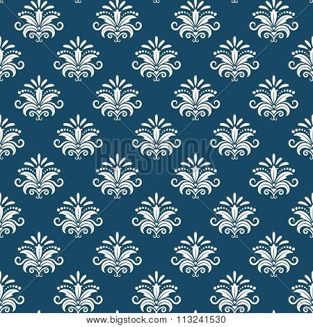 Vector classical damask seamless pattern