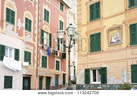 Sori (Genoa) the Village. Color image