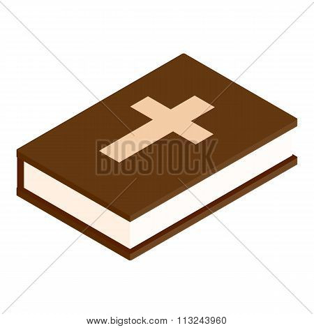Bible isometric 3d icon