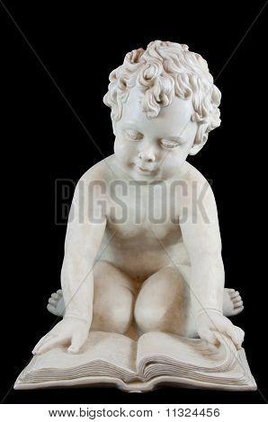 Statue Boy Reading