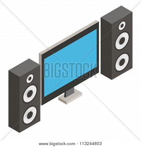 Home Theater isometric 3d icon