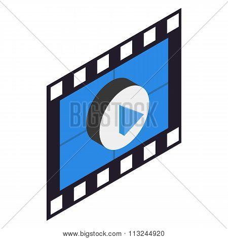 Filmstrip 3D isometric icon