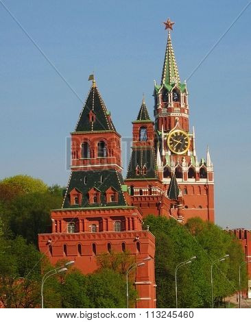 Towers Of Kremlin, Moscow