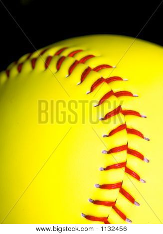 Softball Closeup
