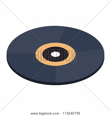 Vinyl record isometric 3d icon