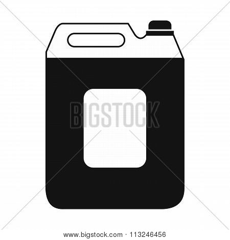 Black plastic canister flat icon