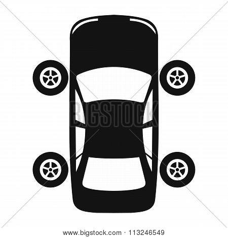 Service and repair car wheel flat icon
