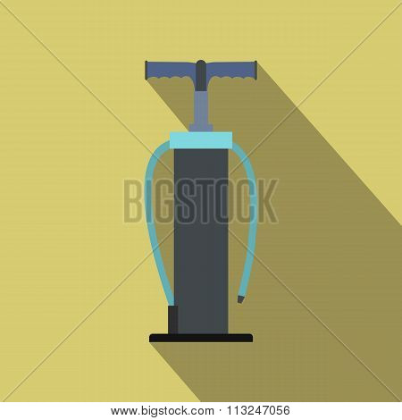 Hand pump flat icon with shadow