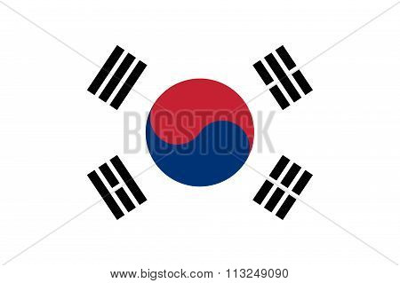 South Korea Flag Illustration Of Asian Country