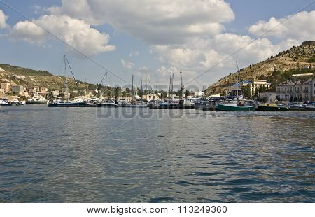 Yachts In Harbour, Balaklava, Crimea