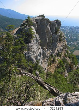 Cross On The Rock, Hills, Crimea