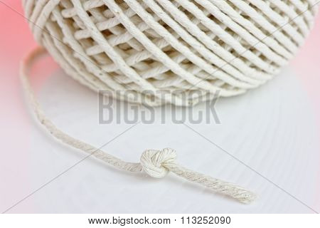 Knotted String Close Up