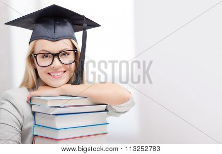 student in graduation cap