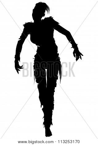 Zombie Woman Silhouette