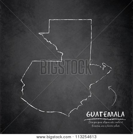 Guatemala map blackboard chalkboard vector