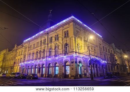 Ornate Buildings At Advent Time