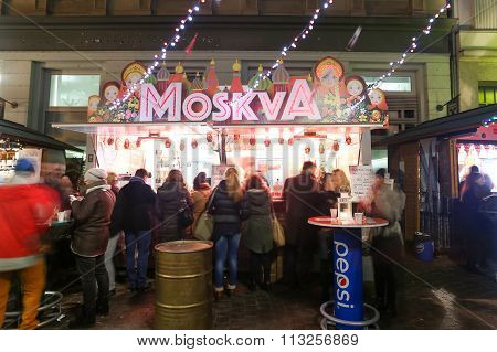 Thematic Food Stand In Zagreb