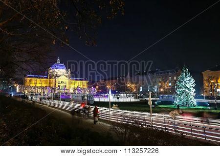 City Skating Rink At Advent