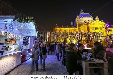 Food Stands At Advent Time