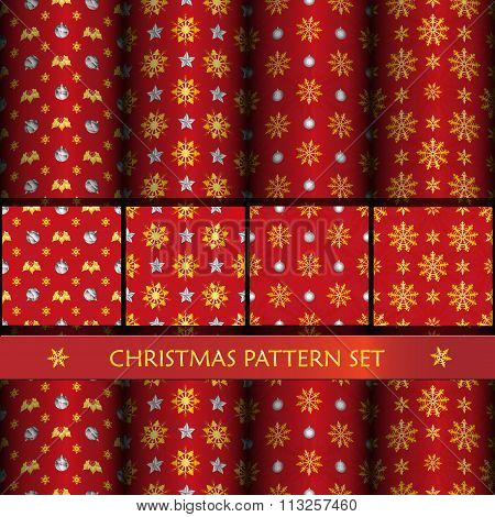 New Year And Christmass Pattern