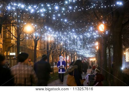 Illuminated Trees In Zrinjevac