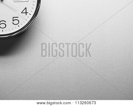 Clock With A Backgound Pattern