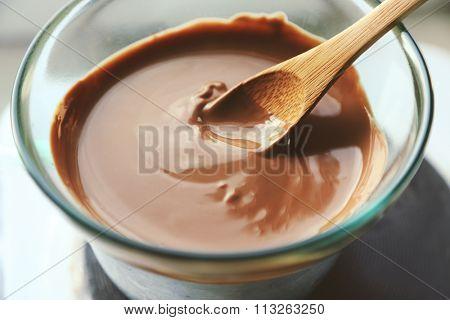 Melting chocolate on stove