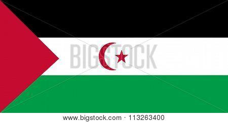 Western Saharan Flag