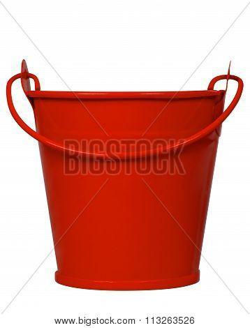 Empty Bucket - Red