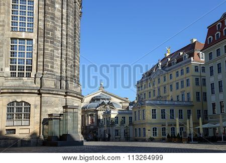 View From Neumarkt Towards Academy Of Fine Arts, Dresden, Germany.