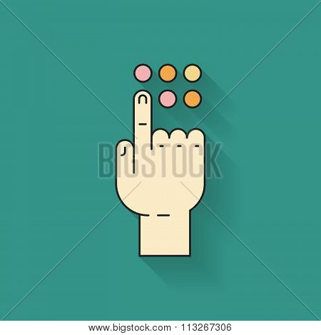 Hand And Button