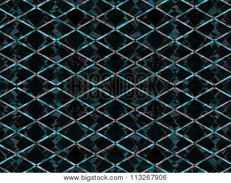 Blue Textured Diamond Pattern