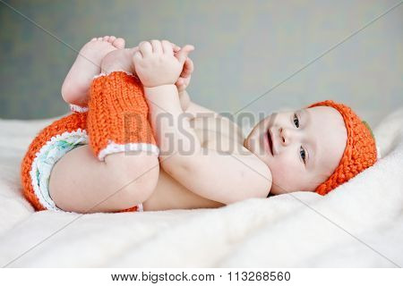 Baby Playing With Legs