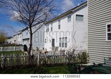 Back Yards of Tract Homes