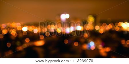 Defocused Night City Lights