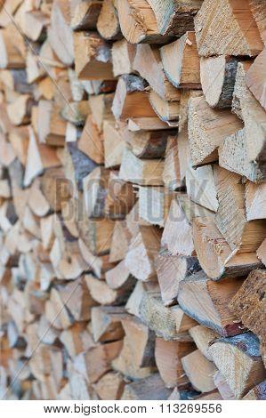 Firewood woodpile